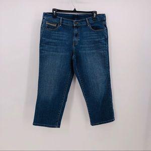 Levis jeans cropped capris measuring 34W 21.5L